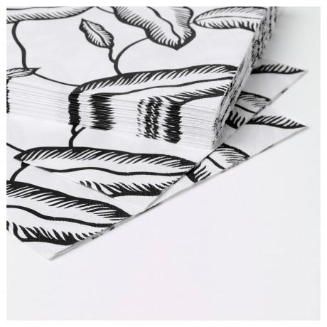 Салфетка бумажная АВСИКТЛИГ белый, черный лист фото 5